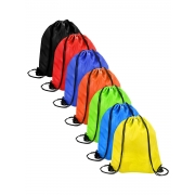 Shappy 7 Pieces Drawstring Bag Sack Cinch Tote Gym Storage Backpack, 7 Colors