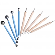 Shappy 9 Piece Ball Stylus Dotting Modeling Tools Clay Ceramics Pottery Carving Tool Embossing Sculpting Set