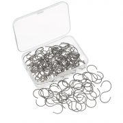 Shappy 100 Pieces Mini S Hooks Connectors S-shaped Wire Hook with Storage Box for DIY Crafts, Hanging Jewelry, Key Chain, Tags (1.18 x 0.59 Inch)